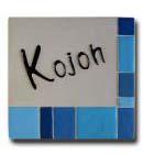 オリジナル陶器表札K130 ブルーボックス