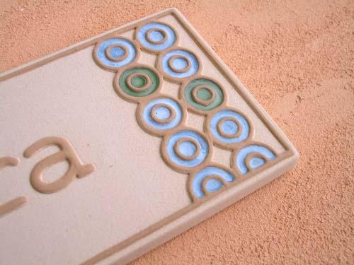 オリジナル陶器表札K116ワオ