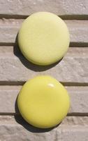 オリジナル陶器表札開運風水八角ベース色イエロー
